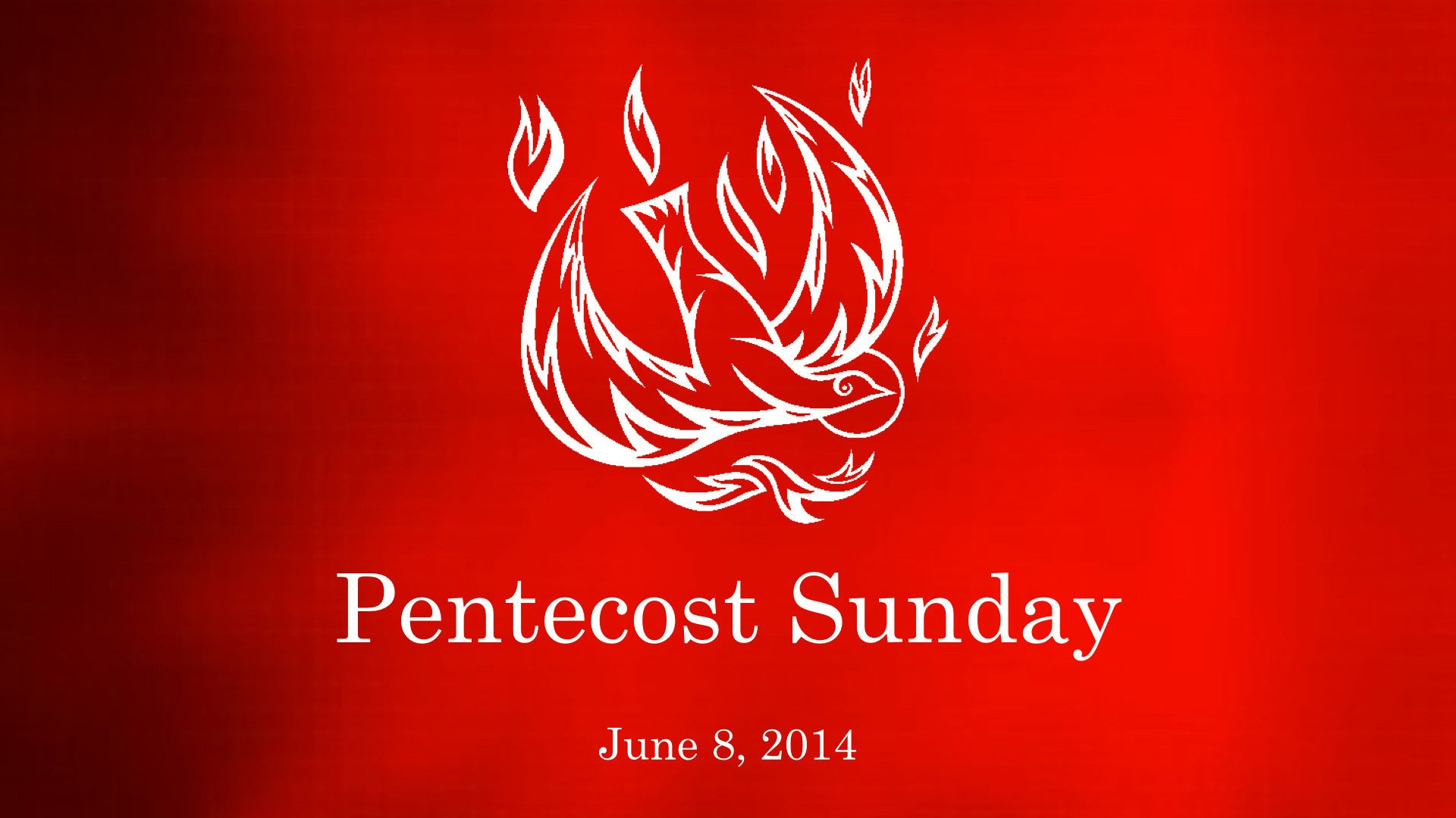Reminder: Pentecost Sunday - June 4, 2017 - Wear Red